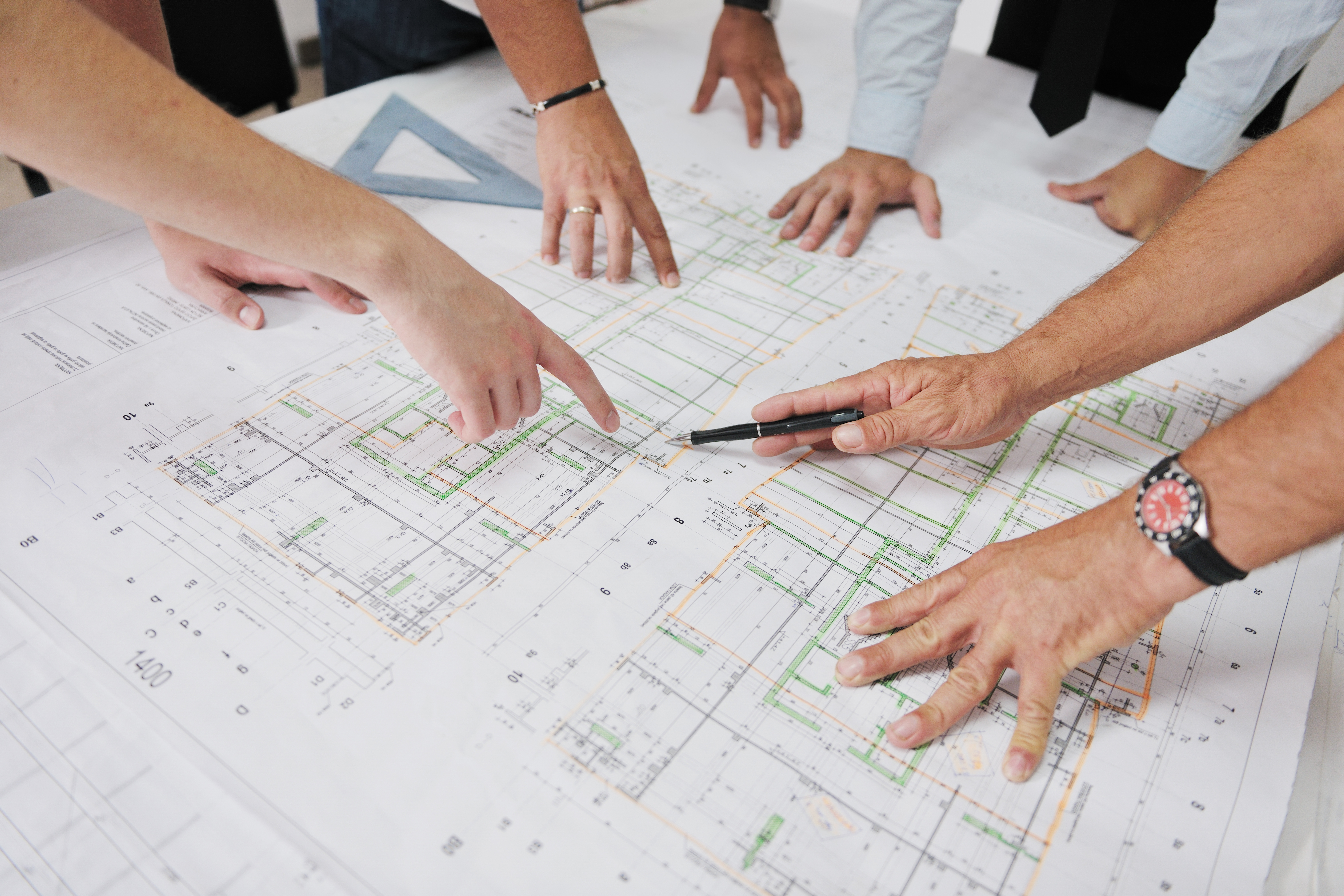 Full scope of architectural and engineering and home designer services team