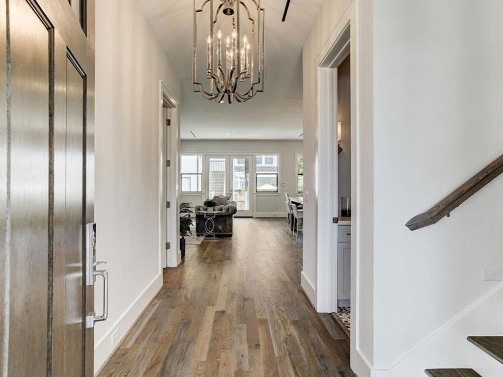 Handsome hardwood floors await you as you enter the front door.