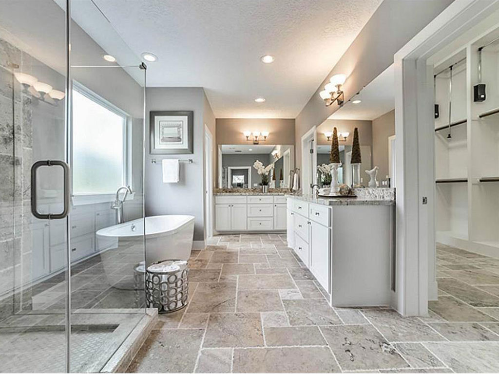 Lavish, spa-like Master Bath from a previously completed project.